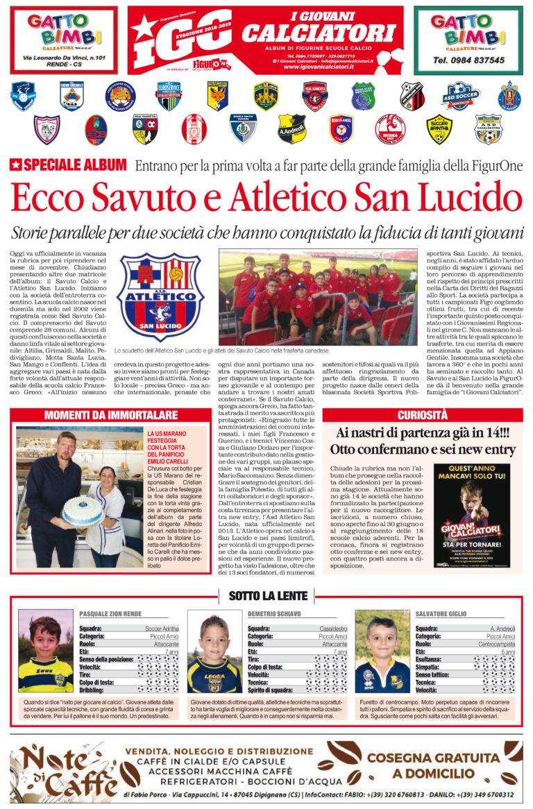 """Da oggi sul """"Quotidiano del Sud"""" riprende la rubrica dedicata a """"I Giovani Calciatori"""""""